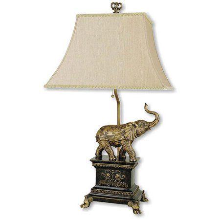 Ore International Elephant Table Lamp Antique Gold Tablelamps Elephant Table Lamp Elephant Table Lamp