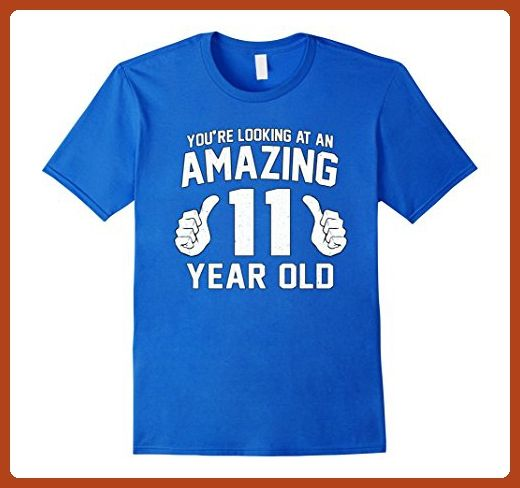e1ab360fe Mens Awesome 11th Birthday Saying Tee Funny 11 Year Old Boy Girl Large  Royal Blue - Birthday shirts (*Partner-Link)