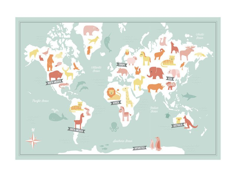 Animal world map by jessie steury for minted oh baby pinterest animal world map wall art prints by jessie steury gumiabroncs Image collections