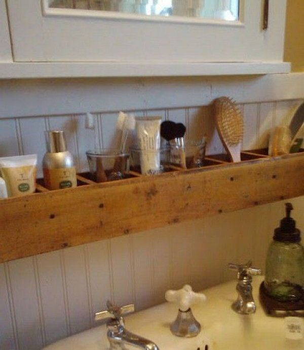 Pallet Wood Bathroom Storage //hative.com/clever-bathroom-storage- ideas/ & Pallet Wood Bathroom Storage http://hative.com/clever-bathroom ...