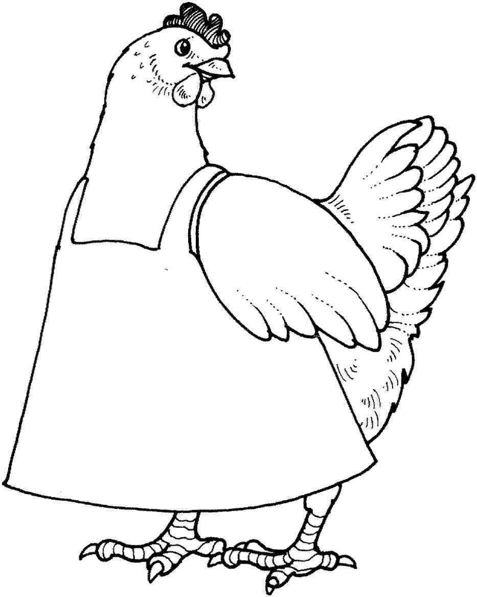 Little Red Hen Coloring Pages | Coloring Pages | Pinterest | Red hen