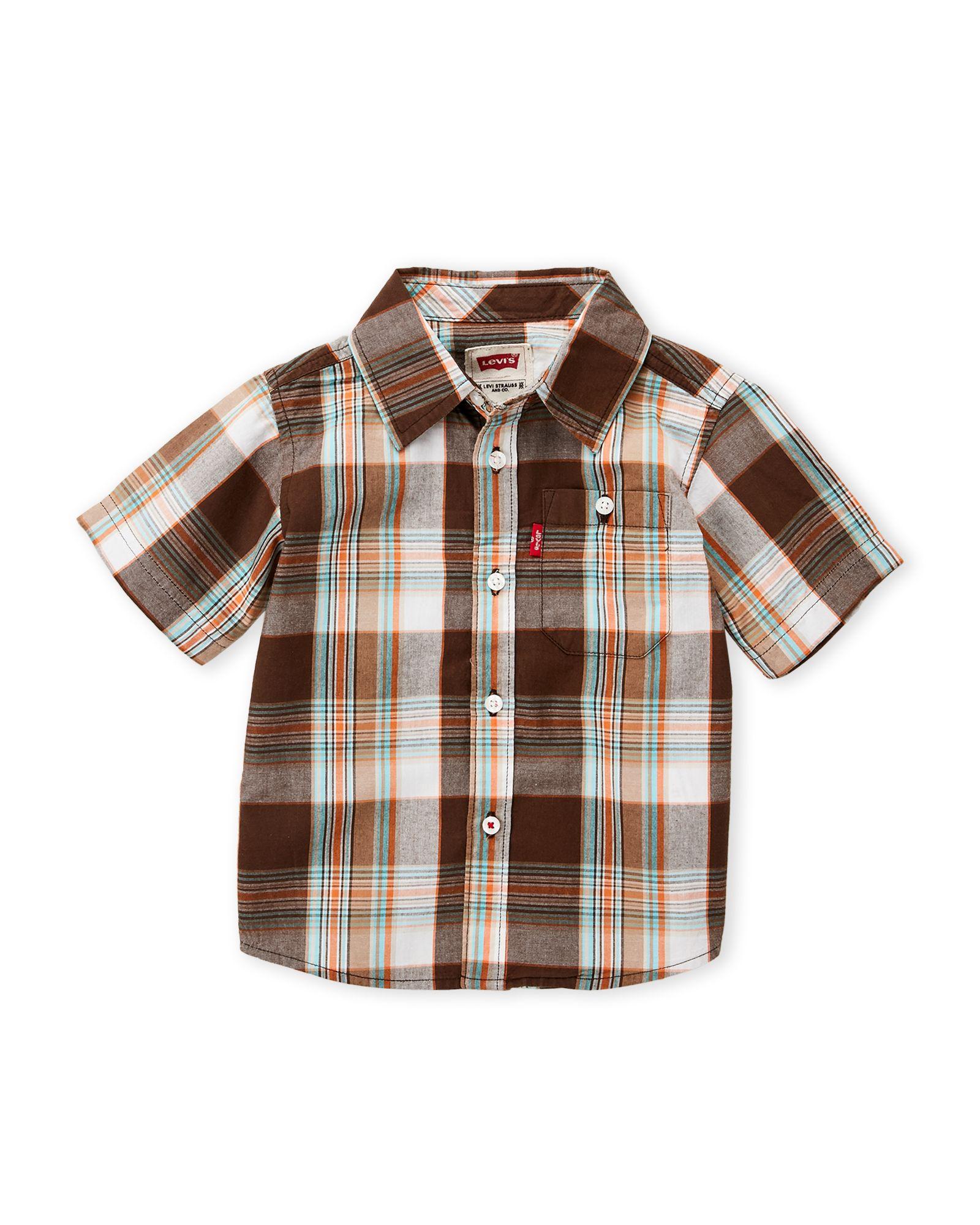 Flannel shirt knot  Levius Toddler Boys Plaid Short Sleeve ButtonDown  Apparel