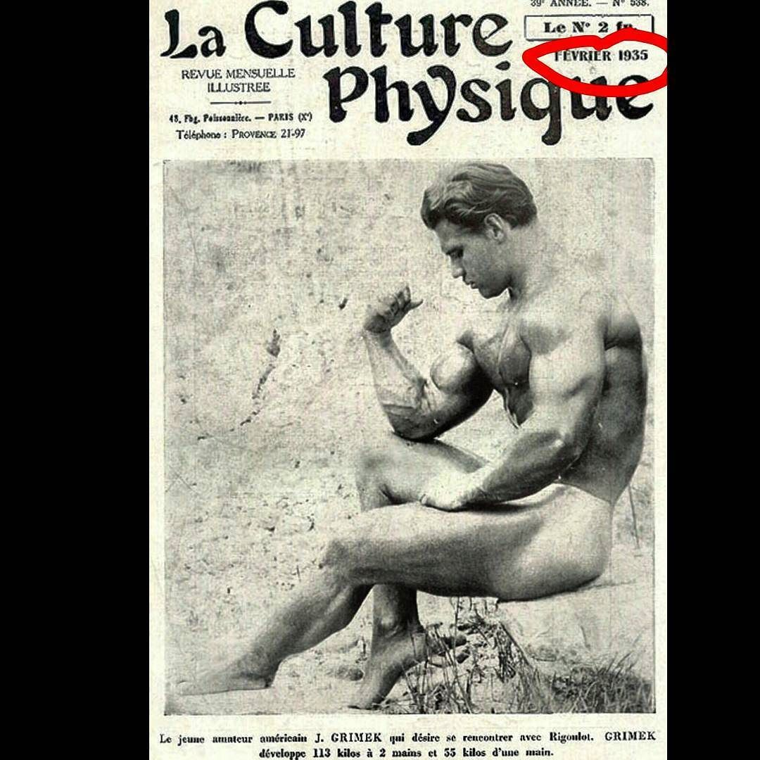 #JohnGrimek 1935. In magazine 81 years ago  #oldschoolbodybuilding #naturalbodybuilding #bodybuilding #bodybuilder #aesthetic #aestheticbodybuilding #aestheticrevolution #aesthetics #aestheticarmy #aesthetic #dedication #arms#biceps #physique #classicbodybuilding #goldeneraofbodybuilding #classicphysique #aestheticsovereverything #zyzz#fit#fitness #goldeneraofbodybuilding #gym #gains