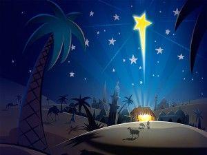 La Estrella De Belen Christmas Desktop Christmas Jesus Christmas Desktop Wallpaper
