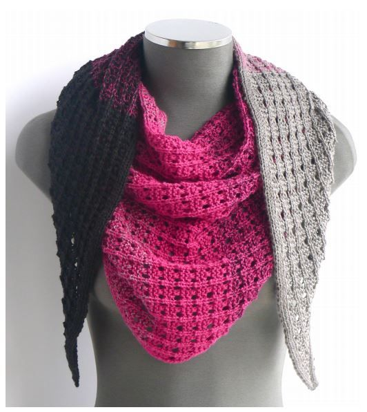 Free Knitting Pattern For A Triangle Scarf In Wendys Evolution