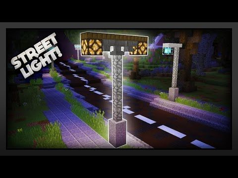 Minecraft How To Make A Working Street Light Youtube Street Light Minecraft City Minecraft Modern