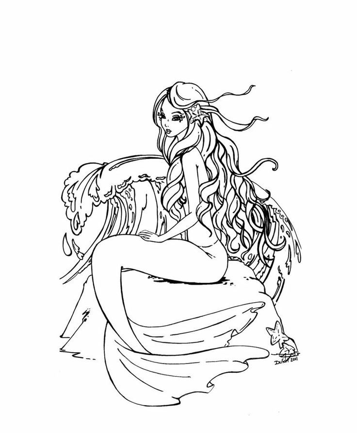 Pin by Rachel Wadell on Coloring pages Mermaids to Color