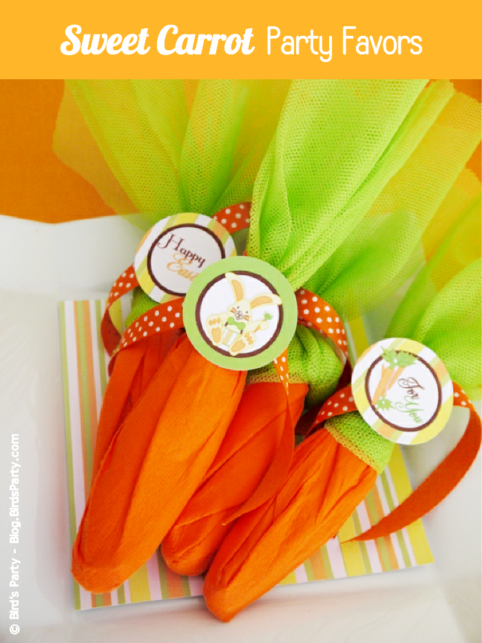 DIY Super Easy Mock Carrot Easter Party Favors