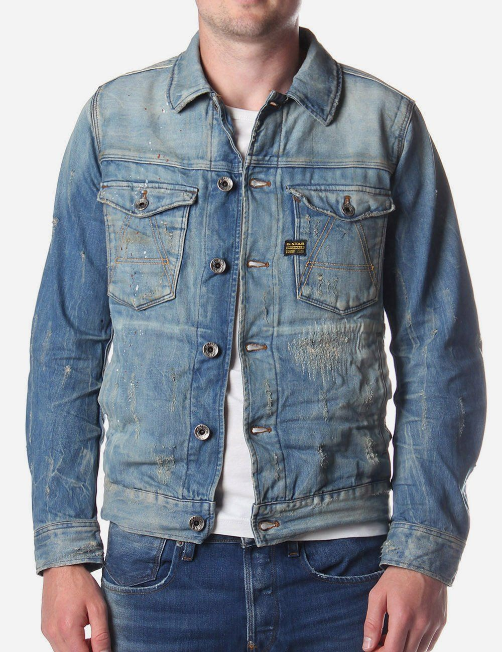 A Crotch Men's Denim Jacket Denim