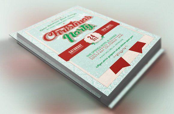 Church Christmas Party Flyer by Godserv Designs on @creativemarket