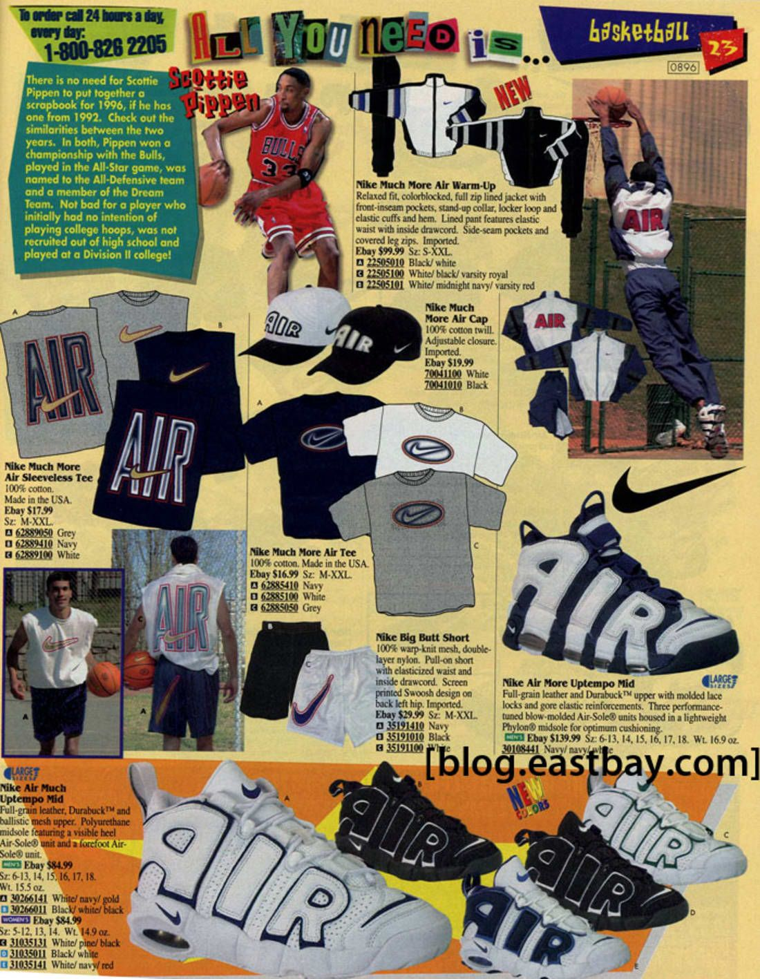 6fc1fa5e820 Nike Air More Uptempo - 25 Classic Sneakers From Vintage Eastbay Catalogs |  Complex