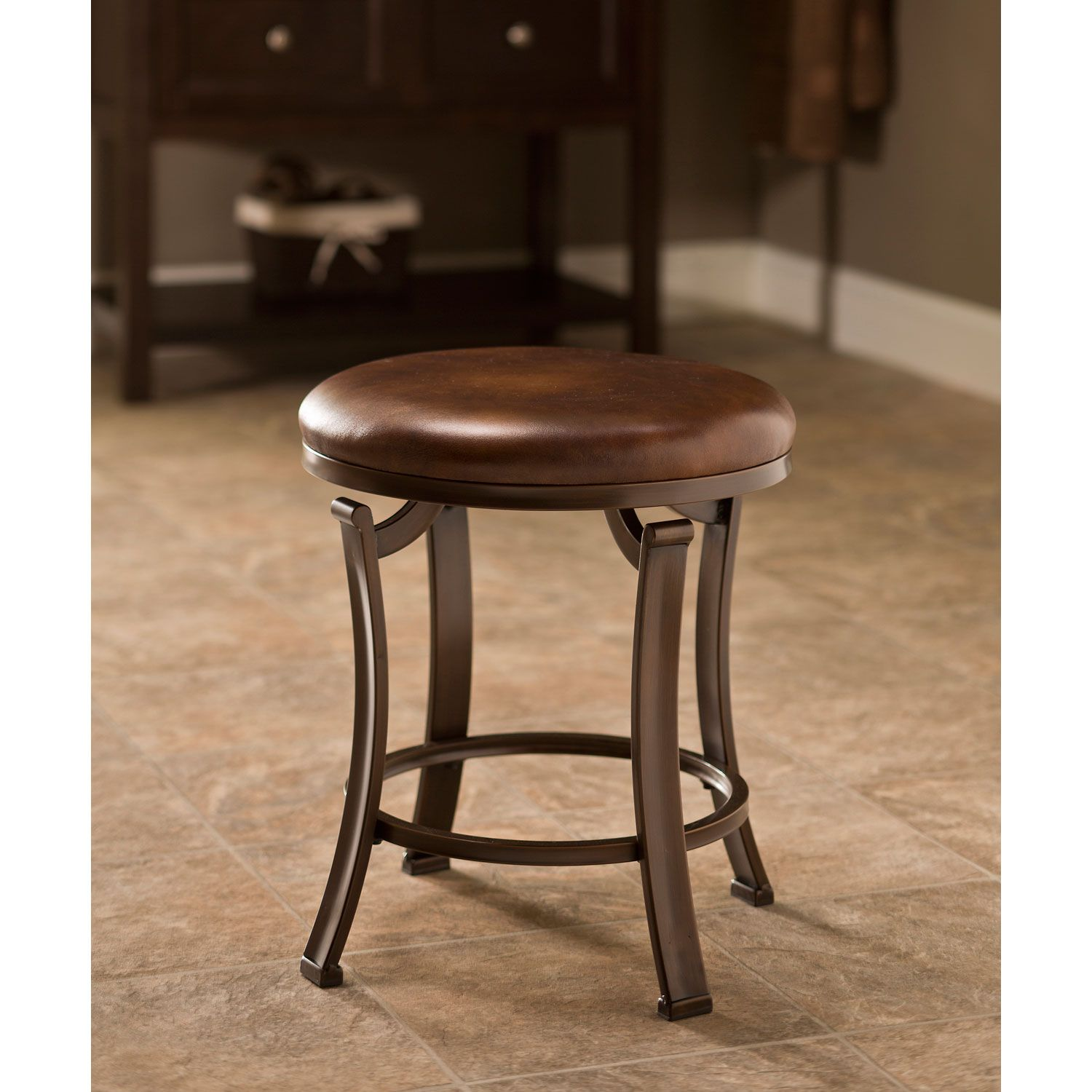 Wonderful Bathroom Vanity Stool Decoration Ideas