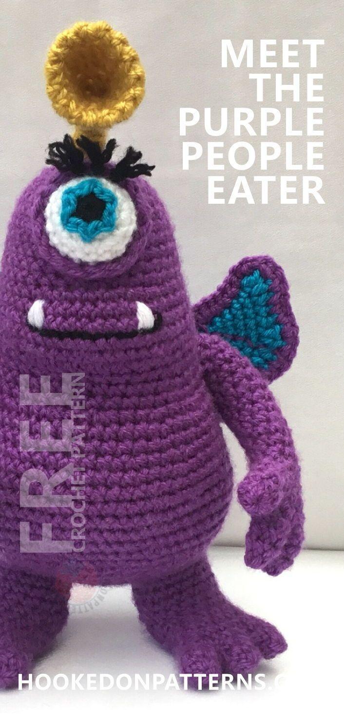 Purple People Eater Free Toy Monster Amigurumi - | Häkeln