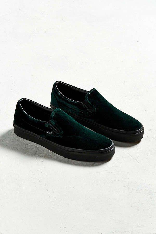 CLASSIC SLIP-ON - Slipper - black/green JGnHmi7Dg