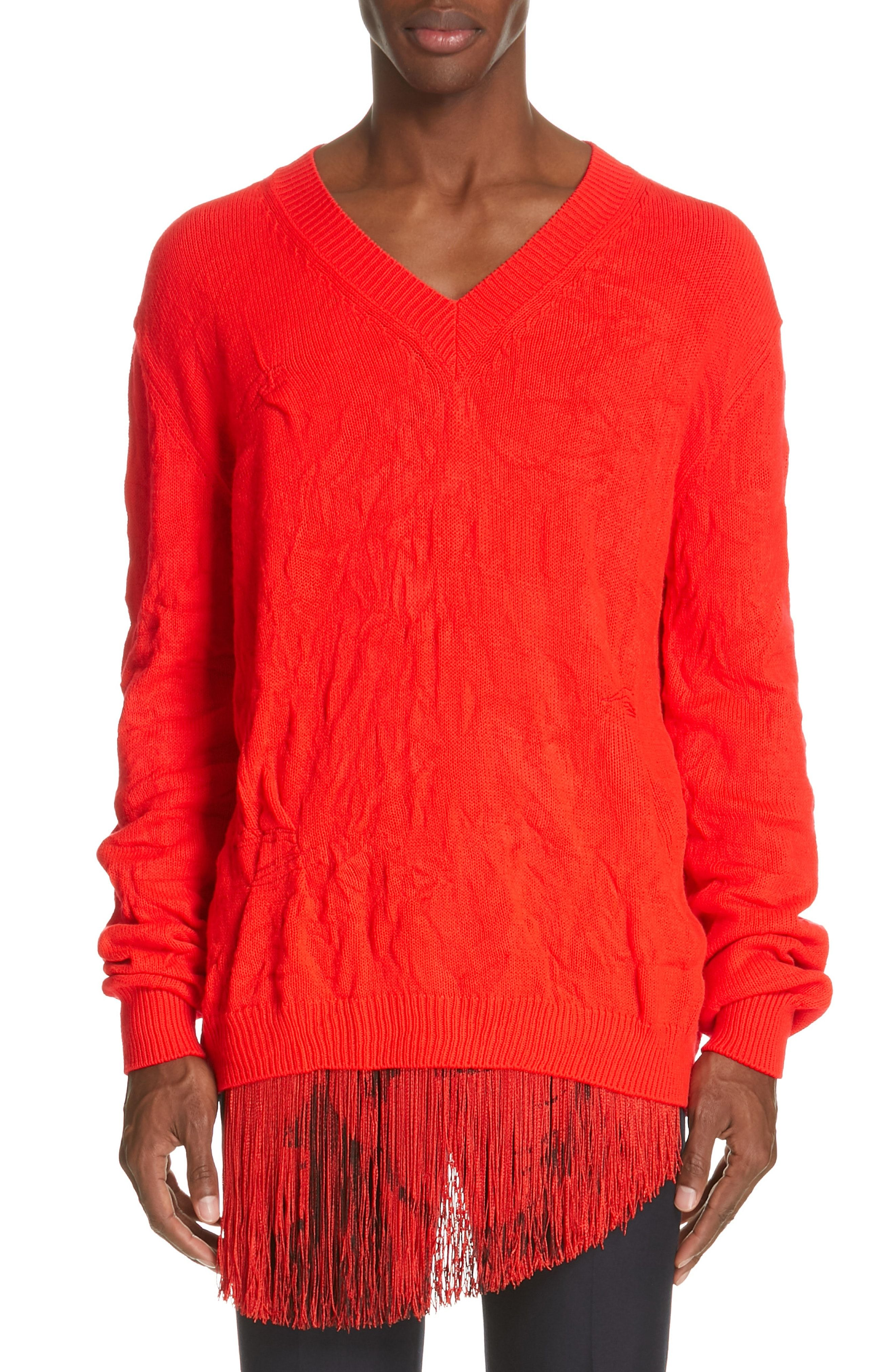 470e84694b CALVIN KLEIN 205W39NYC CABLE KNIT V-NECK SWEATER.  calvinklein205w39nyc   cloth