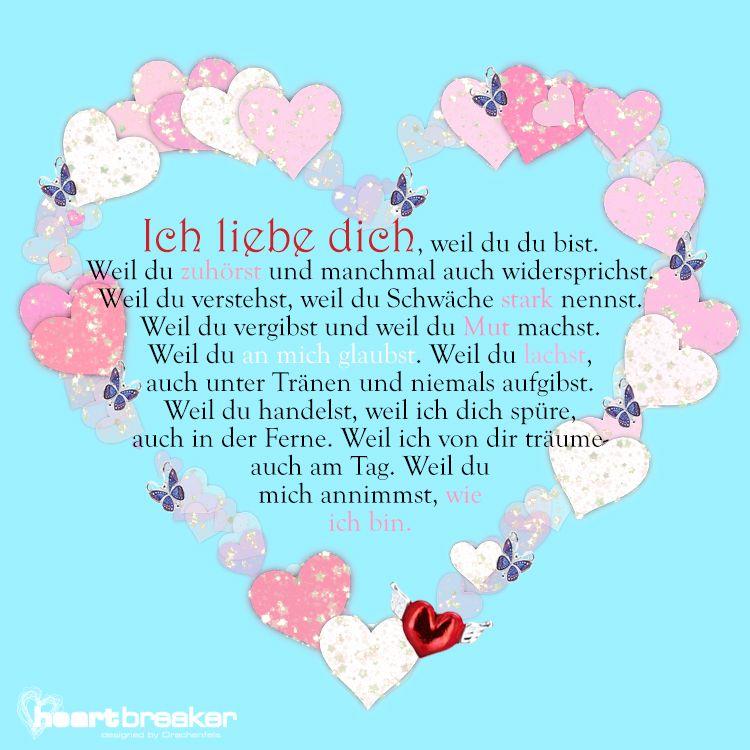 Ich Liebe Dich Weil Spruche Zum Jahrestag Ich Liebe Dich