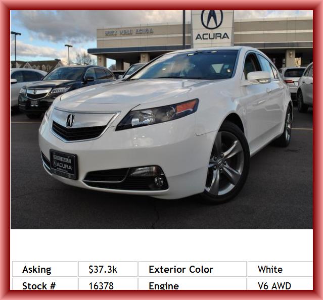 2013 Acura TL SH-AWD W/Tech Sedan Integrated Garage Door