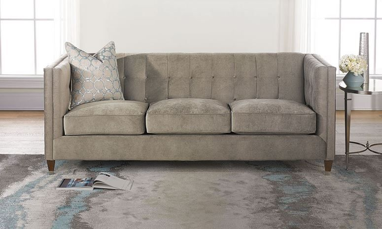 86 u201d tuxedo arm tufted shelter sofa with premium feather down seats rh pinterest com