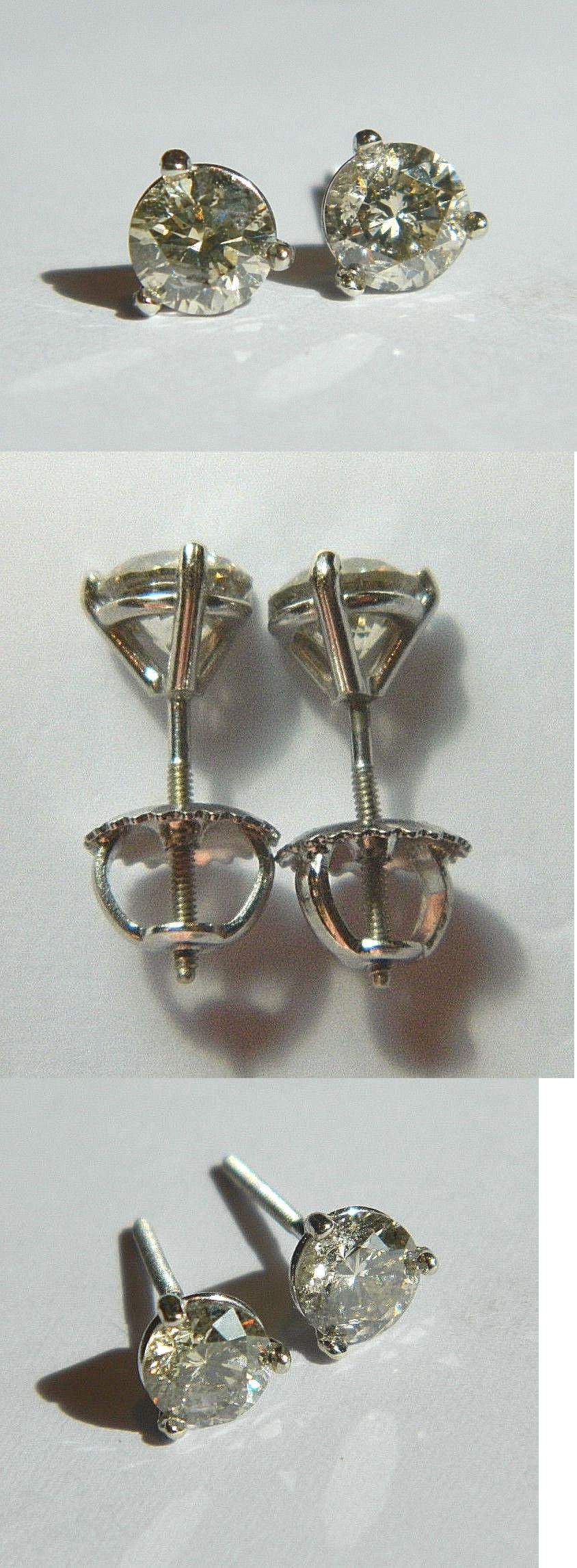 Diamond 1 00 Carat Round Brilliant Cut Diamond Stud