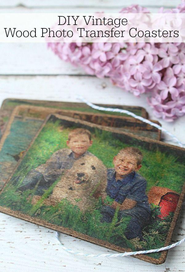 Wood Photo Transfer Coasters Photo On Wood Photo Transfer To