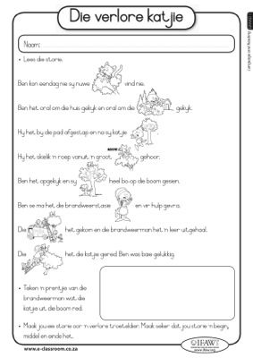 Worksheet 1 Worksheets Afrikaans Grade 4 | Homeschool ...
