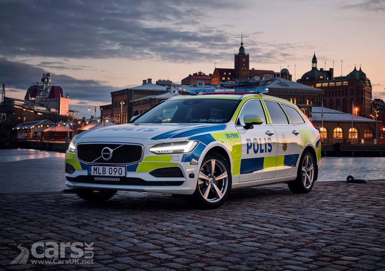 Volvo V90 Is The Perfect Police Car Just Ask The Swedish Police Cars Uk Police Cars Volvo Police
