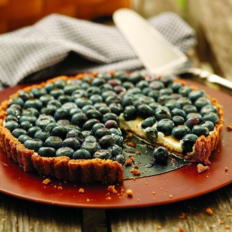 Blueberry Tart with Walnut Crust Recipe Food, Recipes