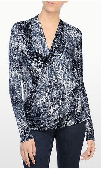 Python Print Wrap Top in Blue