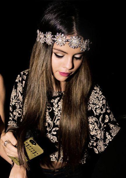 dress jewels selena gomez flowers flower crown metal hair accessory flowers headband jewlrey