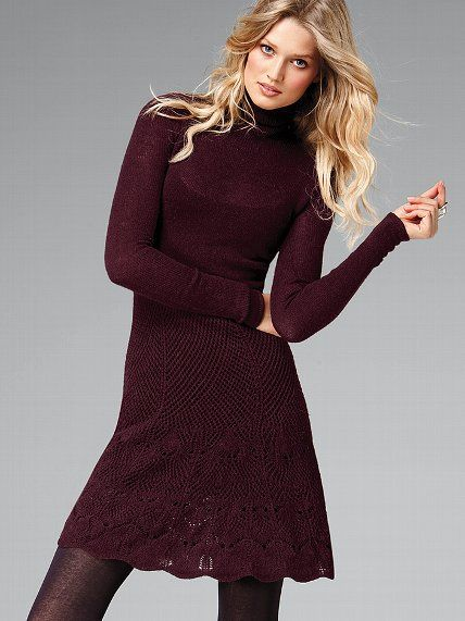 $58.99 Turtleneck Flared Sweaterdress