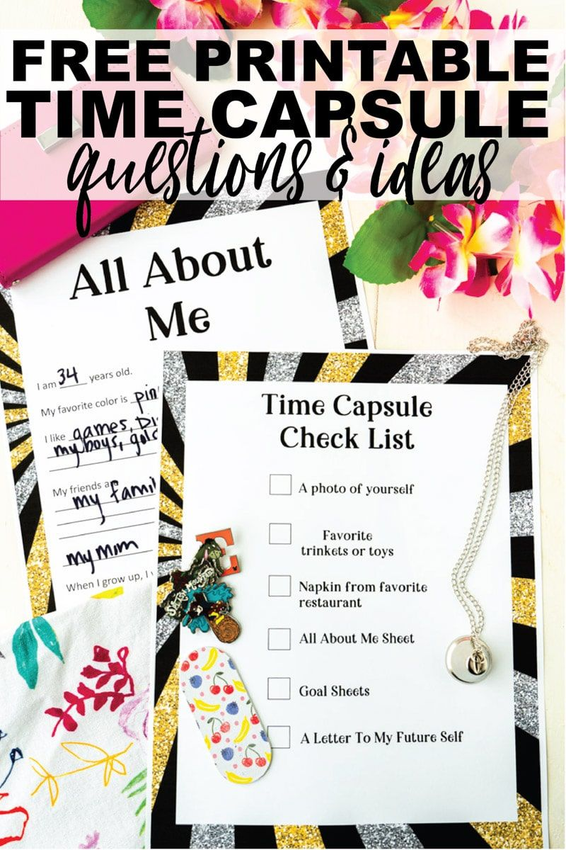 New Year's Eve Time Capsule Ideas (FREE Printable) Play
