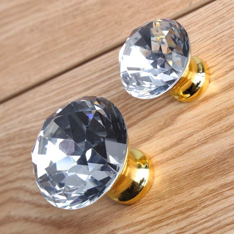 transparent k9 crystal drawer win cabinet knobs pulls gold ...