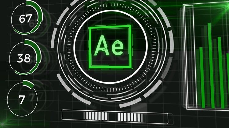 Futuristic HUD Motion Graphics in After Effects | Be