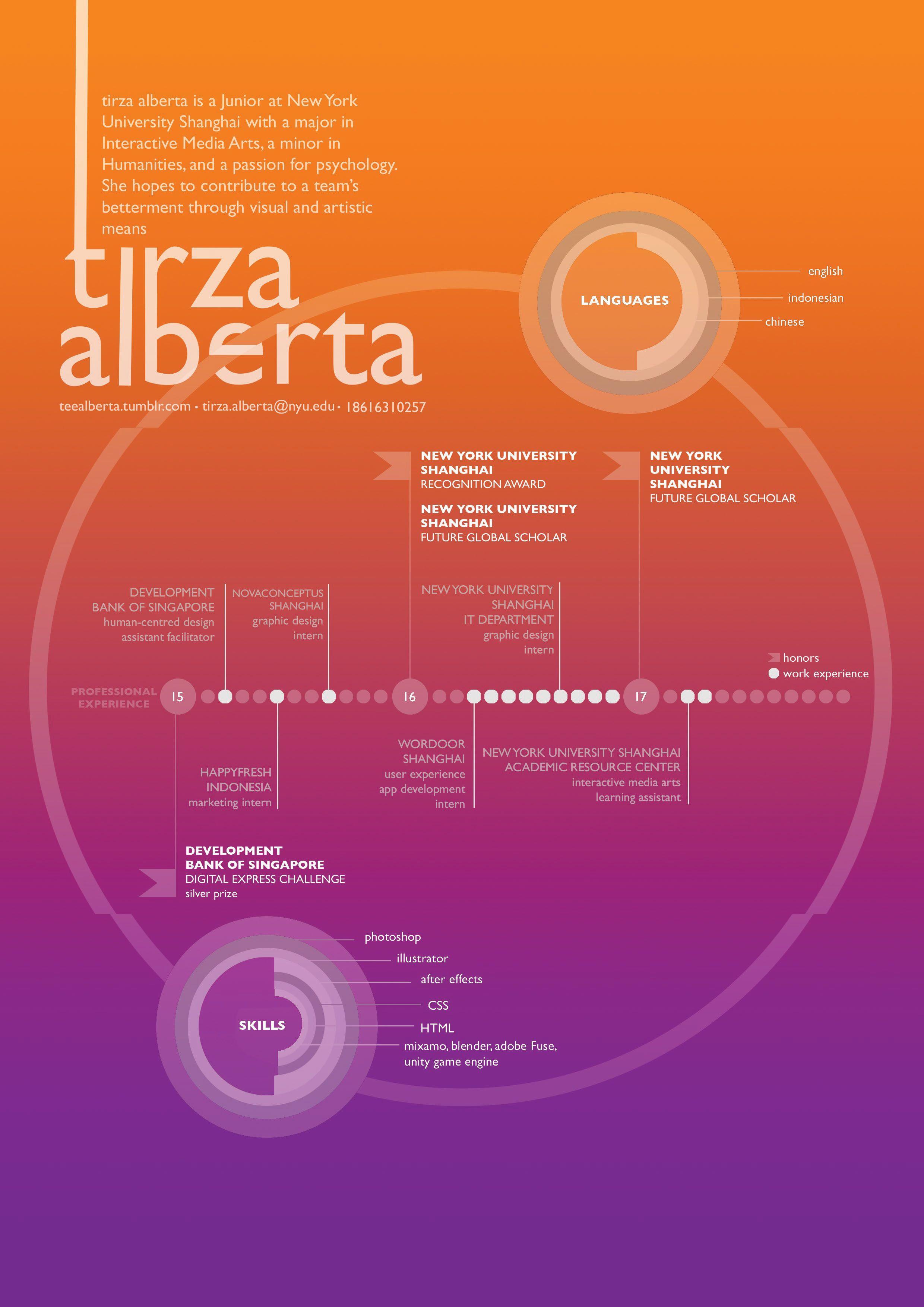 creative CV design graphic simple resume