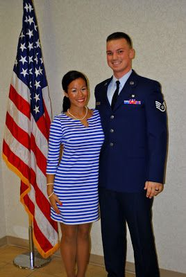 My husband's Staff Sergeant promotion ceremony  #AirForce