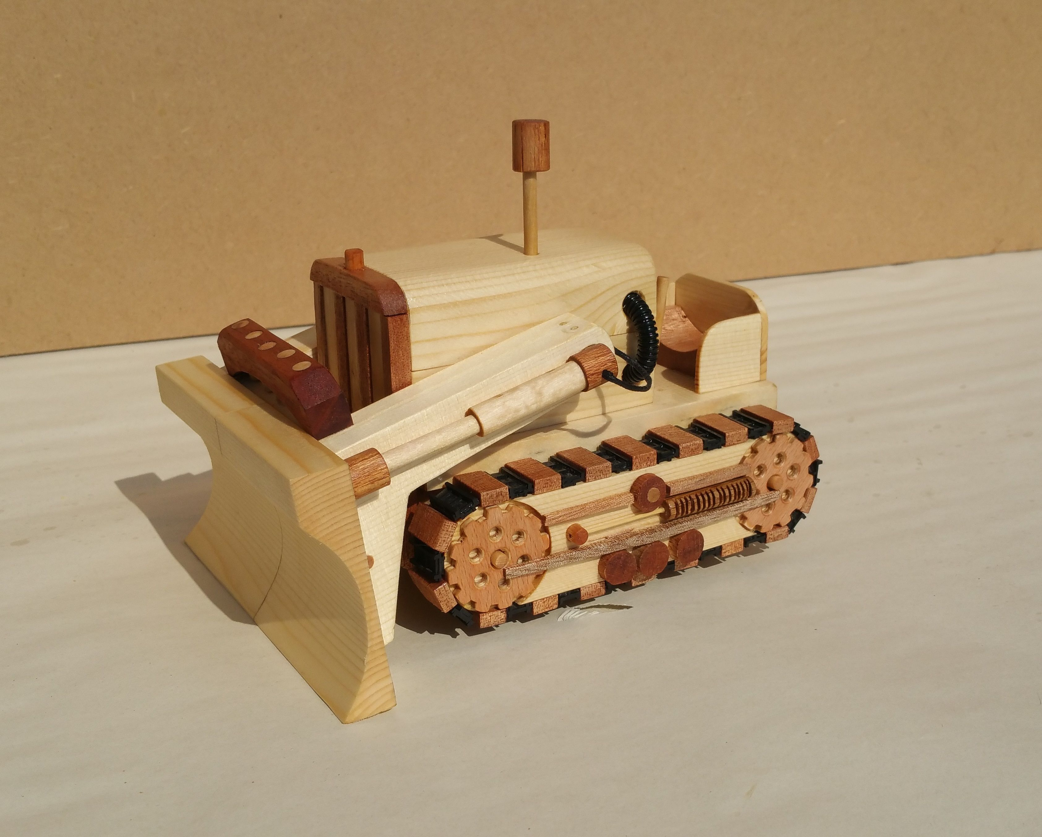 bulldozer based on plans from the great book of wooden toys