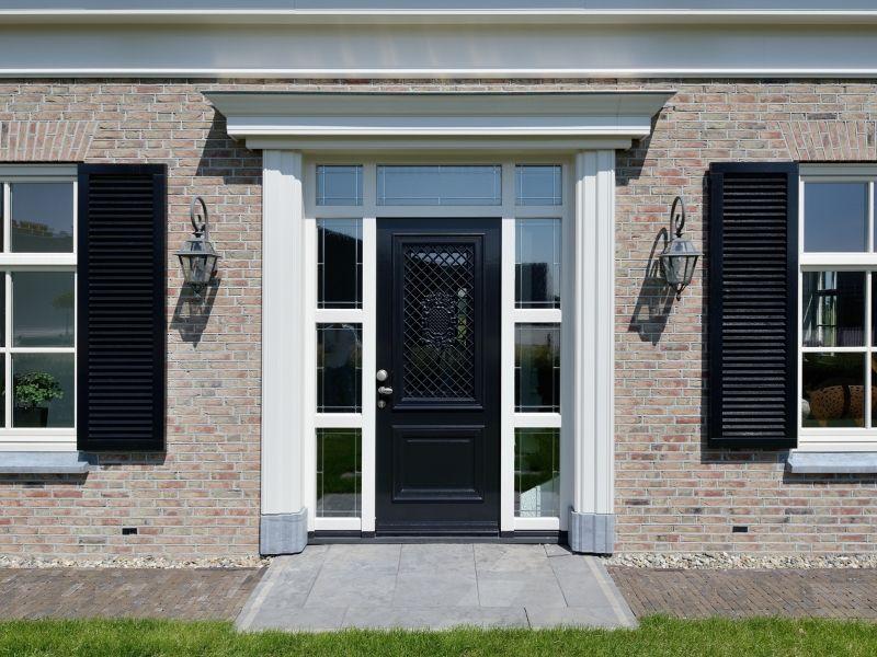 Voordeur jaren 39 30 stijl gevel pinterest jaren 30 stijl voordeuren en huizen - Buitenverlichting gevelhuis ...