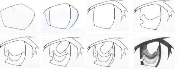 Ojos para hombre anime