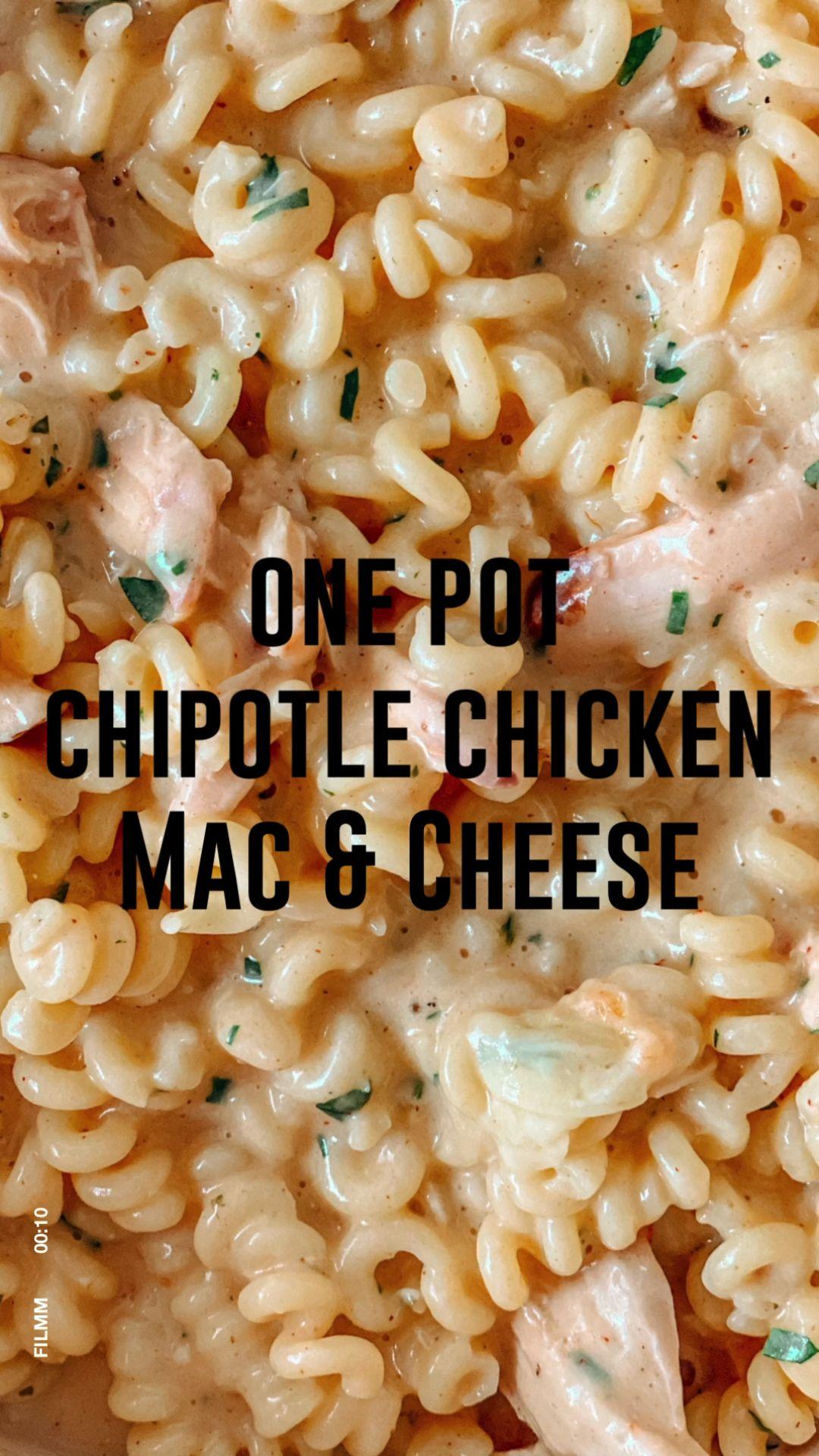 One Pot Chipotle Chicken Macaroni & Cheese