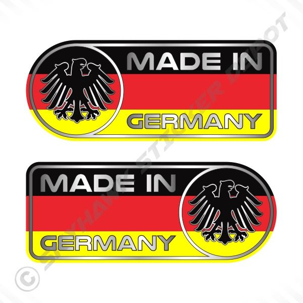 Made In Germany Car Sticker Set Vinyl Decal German Flag Sticker - Where to get vinyl stickers made