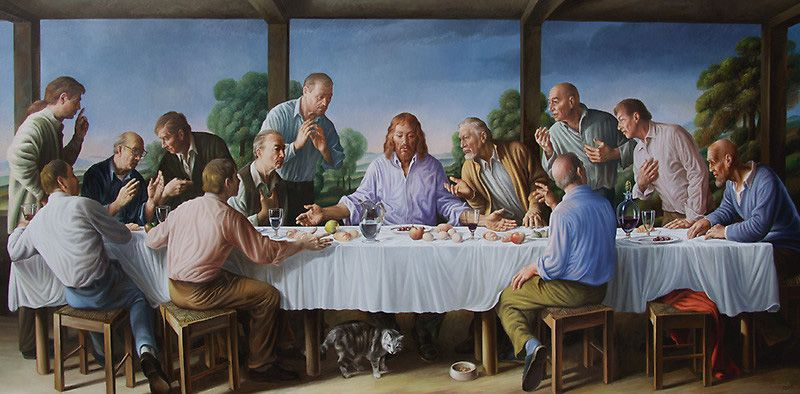 If Its Hip Its Here Updated 45 New More Last Suppers For 2013 Thats Now A Total Of 105 Giampaologhisetti The Last Supper Painting Last Supper Art Parody