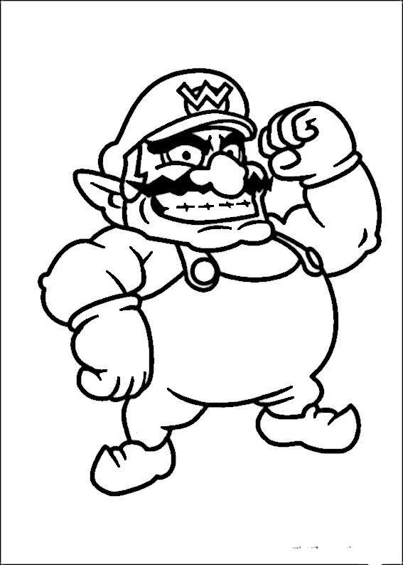 Mario Bross Ausmalbilder Malvorlagen Zeichnung Druckbare Nº 41