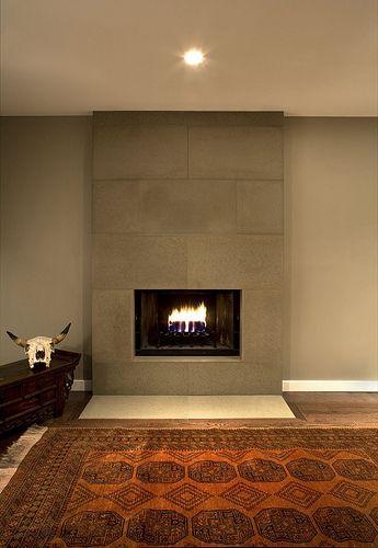 Cast Concrete Tiled Fireplace in Portobello by Solus Decor, via ...