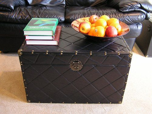 Faux Leather Storage Chest Steamer Trunk Functional Cruelty Free Vegan Home Decor To Help
