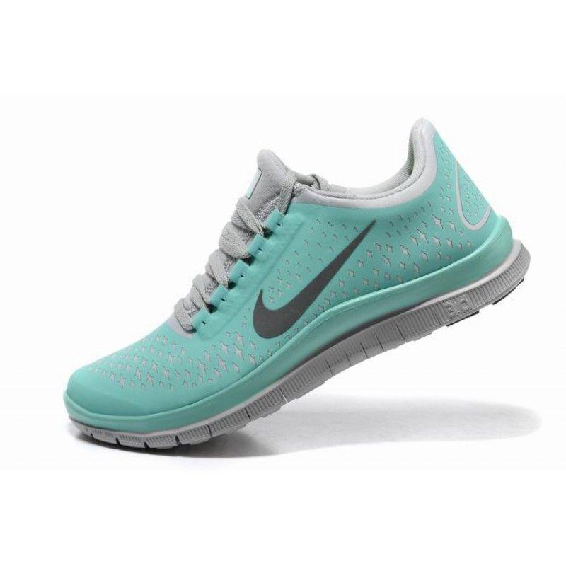 Nike Free  Run Womens Tiffany Blue Shoes