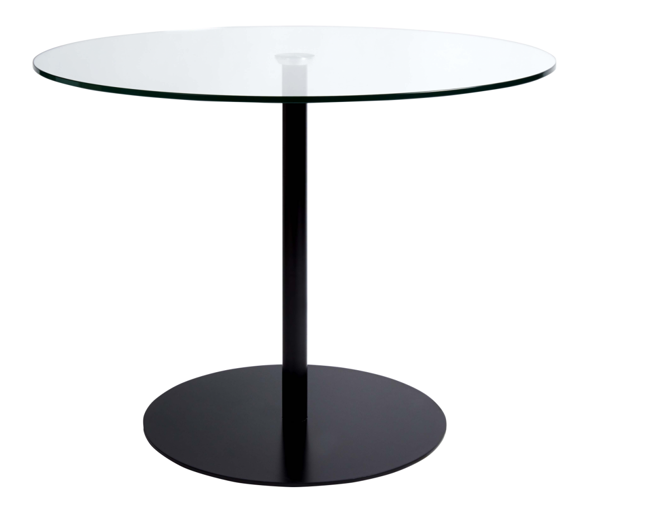 Courbe - Mesa de comedor de vidrio templado y acero - Habitat ...
