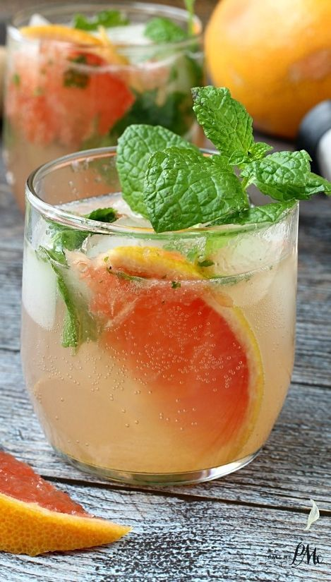 Champagne Grapefruit Mojito, the perfect mix of sweet and sour, this ...