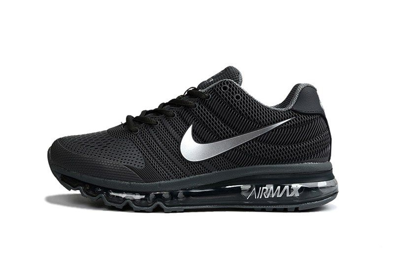 new arrival 58b14 47d9a Nike Air Max 2017 Men Black Silver KPU Shoes