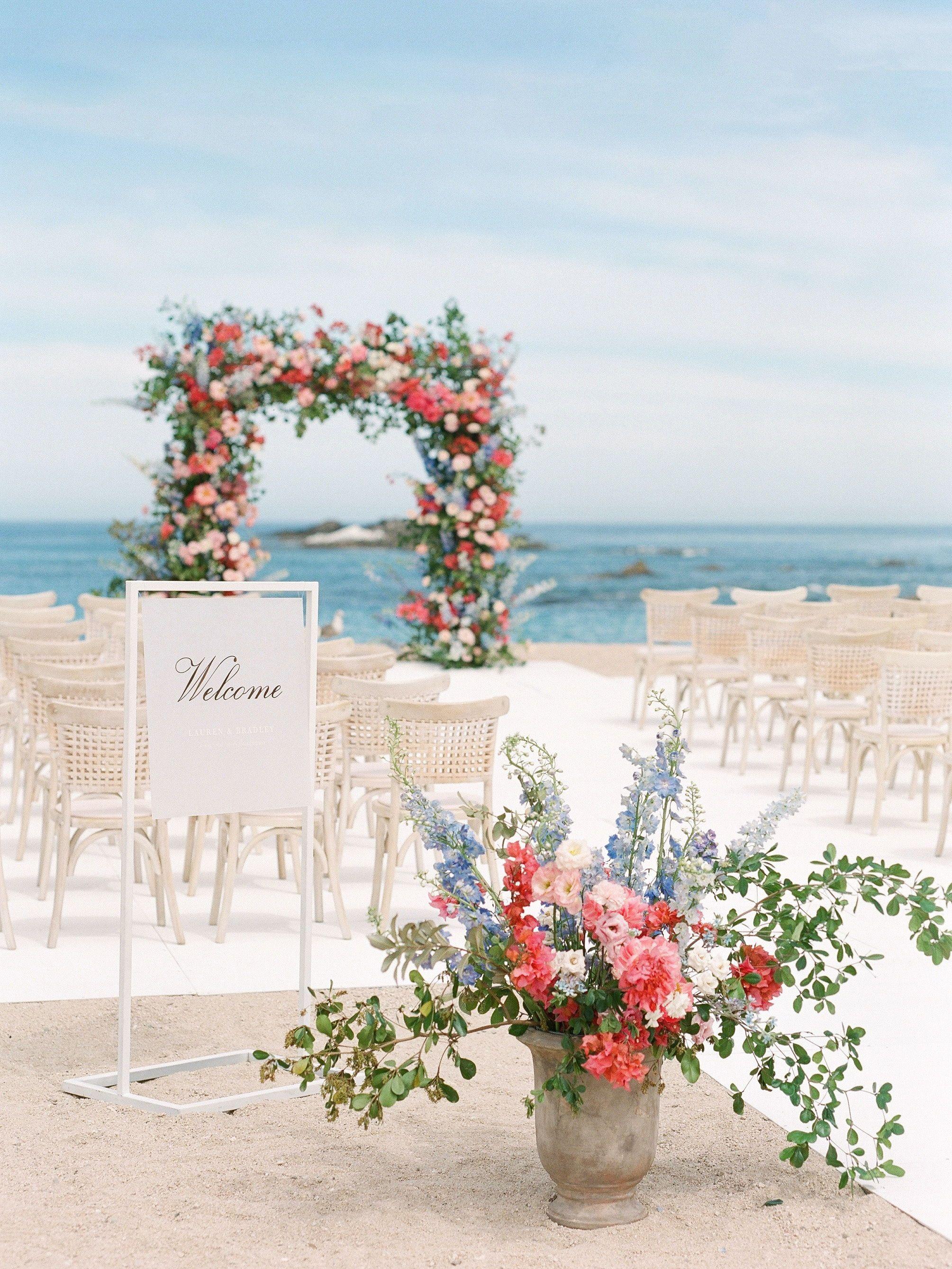Cabo Wedding Chileno Bay Resort Wedding Elegant Beach Wedding