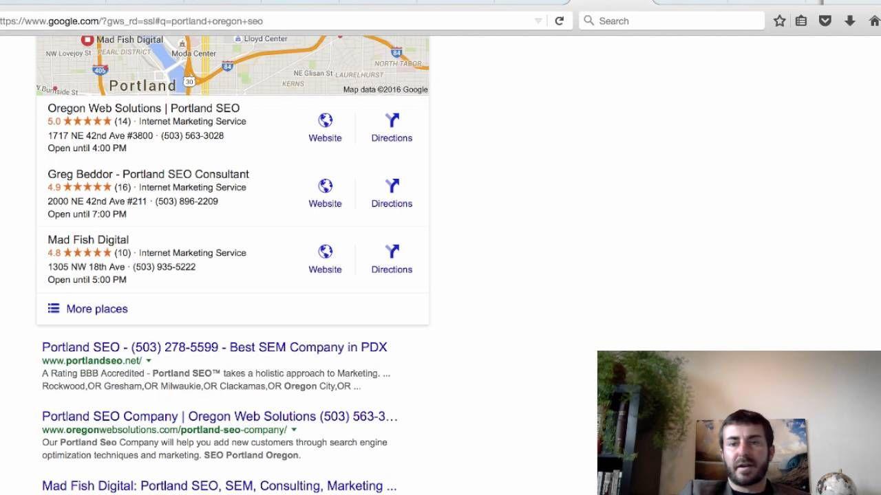 Portland Seo Consultant   Google Rankings Report  Video
